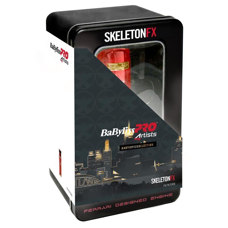 BaByliss PRO FX7870RE SkeletonFX Red Profesionální zastřihovač vlasů