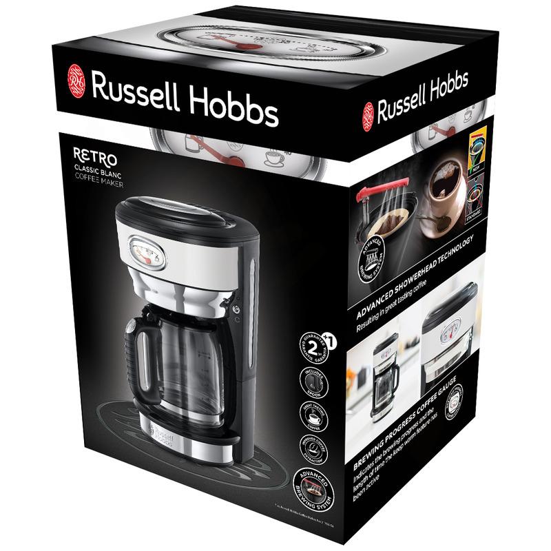 Russell Hobbs 21703-56 Retro White Kávovar