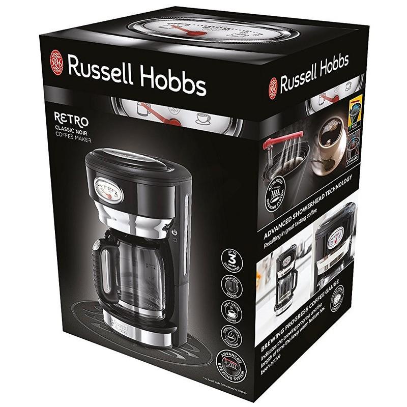 Russell Hobbs 21701-56 Retro Classic Noir kávovar