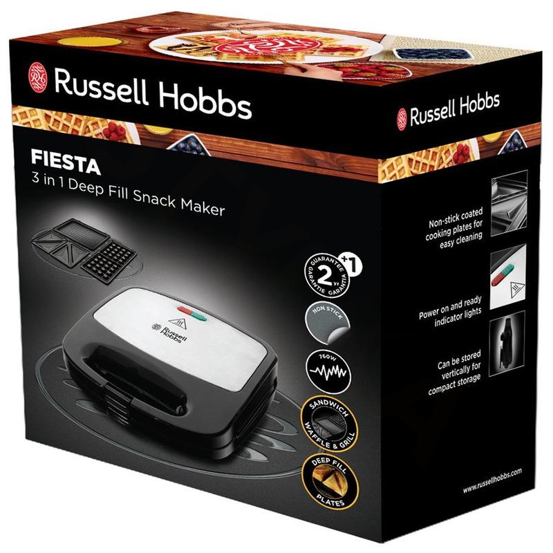 Russell Hobbs 24540-56 Fiesta sendvičovač a vaflovač 3v1