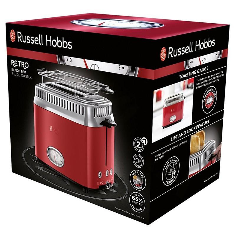 Russell Hobbs 21680-56 Retro Ribbon Red topinkovač
