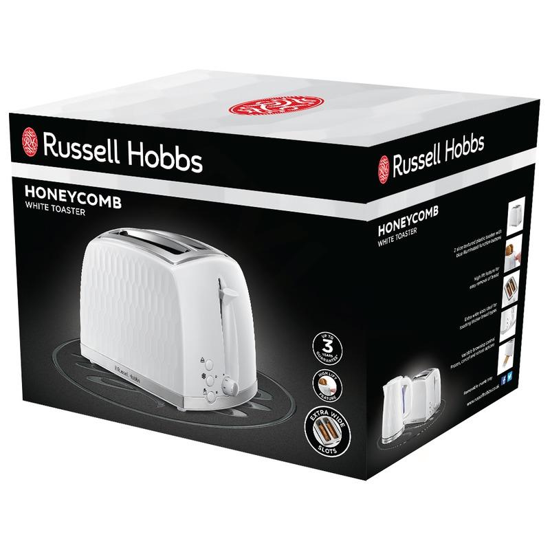 Russell Hobbs Honeycomb White Topinkovač