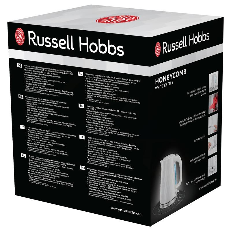 Russell Hobbs 26050-70 Honeycomb White Varná konvice