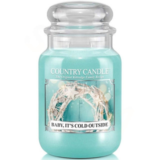 Country Candle Velká vonná svíčka ve skle Baby, it´s cold outside 652g