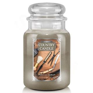 Country Candle Velká vonná svíčka ve skle Shave and Haircut 652g