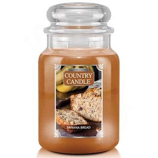 Country Candle Velká vonná svíčka ve skle Banana Bread 652g
