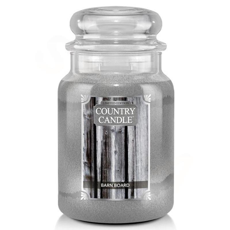 Country Candle Velká vonná svíčka ve skle Barn Board 652g