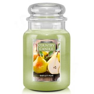 Country Candle Velká vonná svíčka ve skle Bartlett Pear 652g