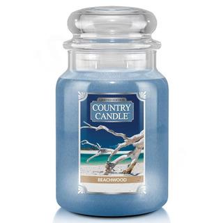 Country Candle Velká vonná svíčka ve skle Beachwood 652g