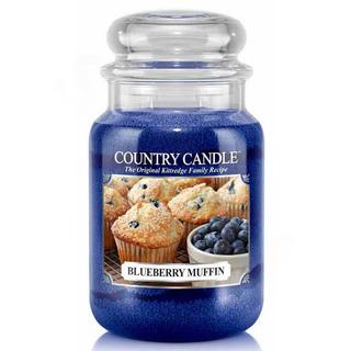 Country Candle Velká vonná svíčka ve skle Blueberry muffin 652g