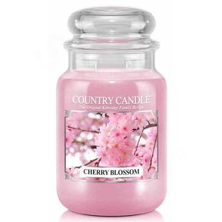 Country Candle Velká vonná svíčka ve skle Cherry Blossom 652g