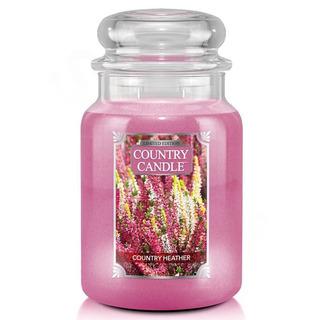 Velká vonná svíčka ve skle Country Heather 652g