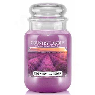 Country Candle Velká vonná svíčka ve skle Country lavender 652g