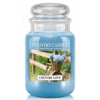 Country Candle Velká vonná svíčka ve skle Country love 652g