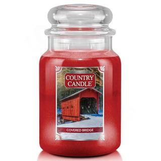 Country Candle Velká vonná svíčka ve skle Covered Bridge 652g