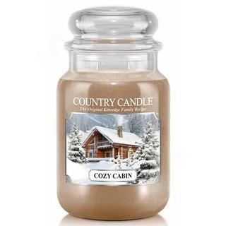 Country Candle Velká vonná svíčka ve skle Cozy cabin 652g