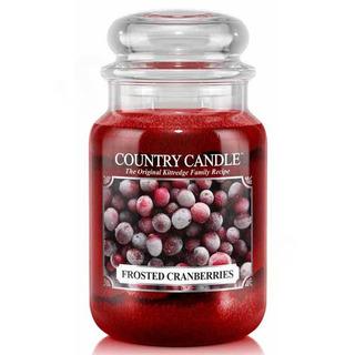 Country Candle Velká vonná svíčka ve skle Frosted cranberries 652g