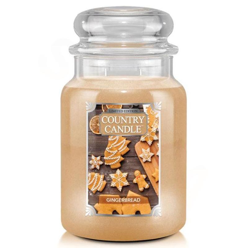 Country Candle Velká vonná svíčka ve skle Gingerbread 652g