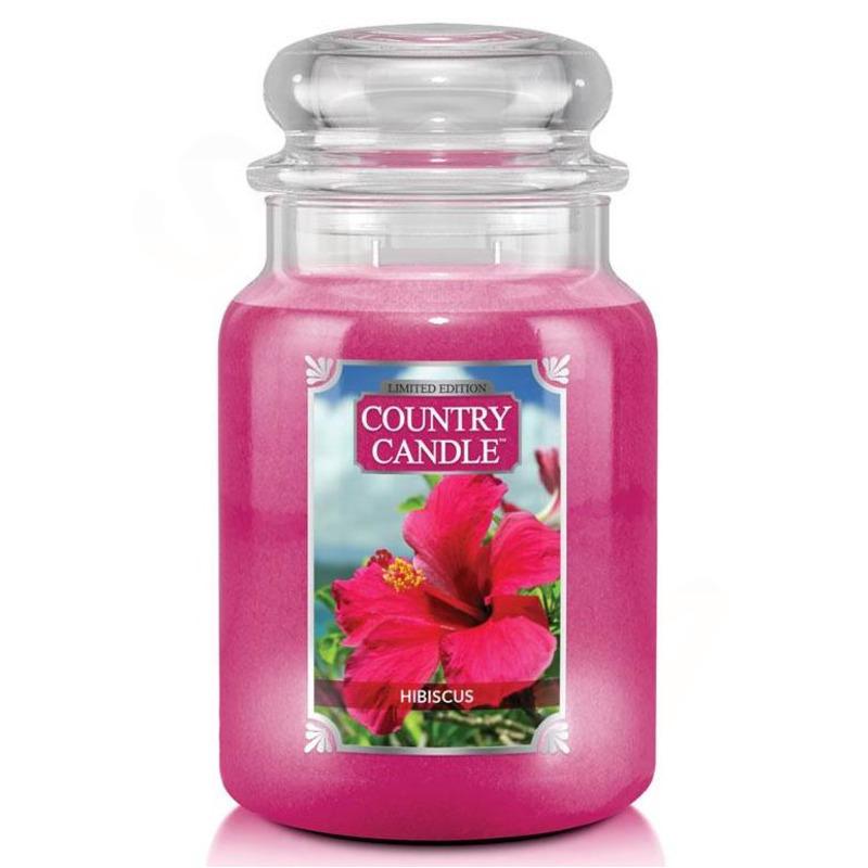 Country Candle Velká vonná svíčka ve skle Hibiscus 652g