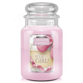 Country Candle Velká vonná svíčka ve skle It´s A Girl 652g