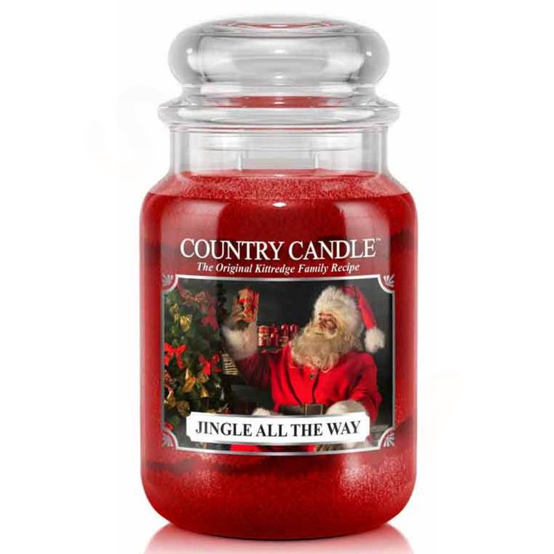 Country Candle Velká vonná svíčka ve skle Jingle all the way 652g