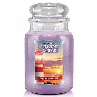 Country Candle Velká vonná svíčka ve skle Lighthouse Point 652g