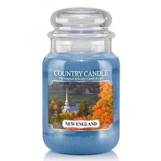Country Candle Velká vonná svíčka ve skle New England 652g