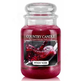 Country Candle Velká vonná svíčka ve skle Pinot noir 652g