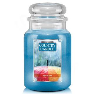 Country Candle Velká vonná svíčka ve skle Rainy Day 652g
