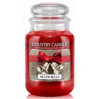 Country Candle Velká vonná svíčka ve skle Silver bells 652g