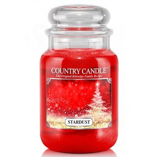 Country Candle Velká vonná svíčka ve skle Stardust 652g
