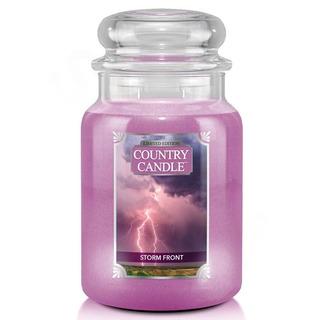 Country Candle Velká vonná svíčka ve skle Storm Front 652g