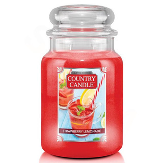Country Candle Velká vonná svíčka ve skle Strawberry Lemonade 652g
