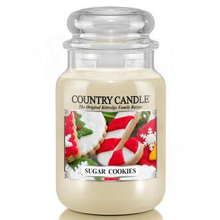 Country Candle Velká vonná svíčka ve skle Sugar cookies 652g
