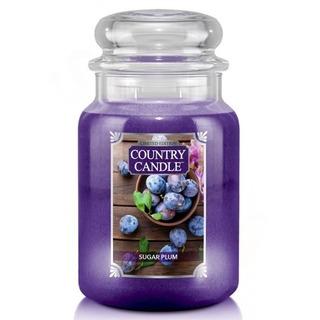 Country Candle Velká vonná svíčka ve skle Sugar Plum 652g