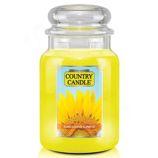 Country Candle Velká vonná svíčka ve skle Sunflower Sunrise 652g