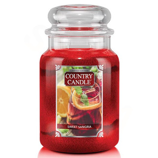 Country Candle Velká vonná svíčka ve skle Sweet Sangria 652g