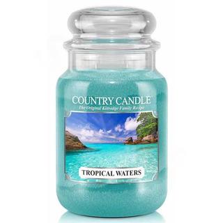 Country Candle Velká vonná svíčka ve skle Tropical waters 652g