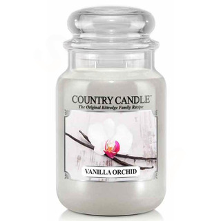 Country Candle Velká vonná svíčka ve skle Vanilla orchid 652g