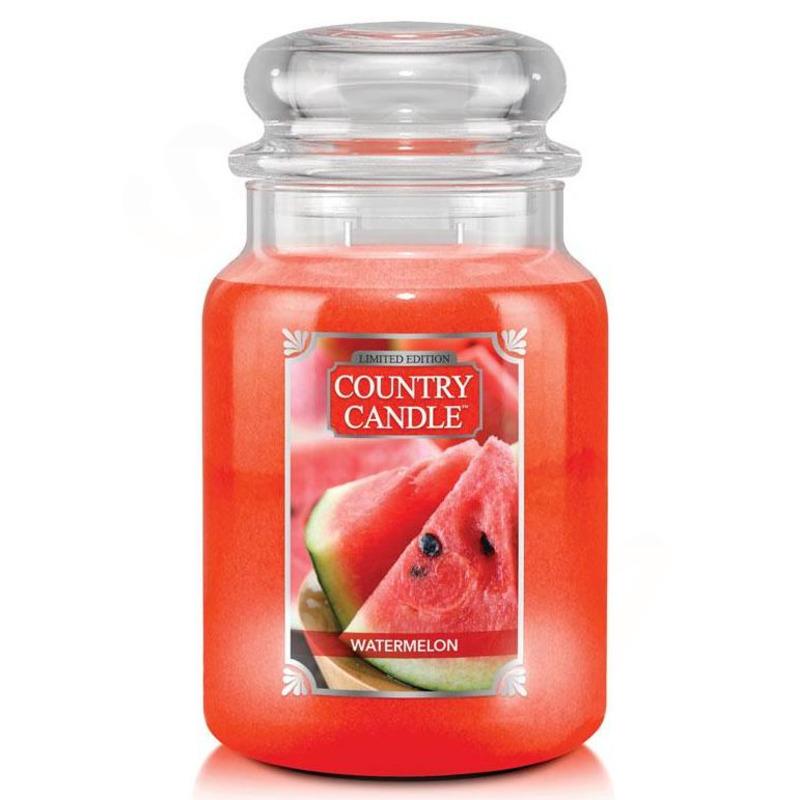 Country Candle Velká vonná svíčka ve skle Watermelon 652g