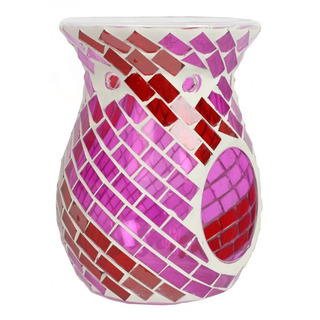 Village Candle Aromalampa Red & Purple