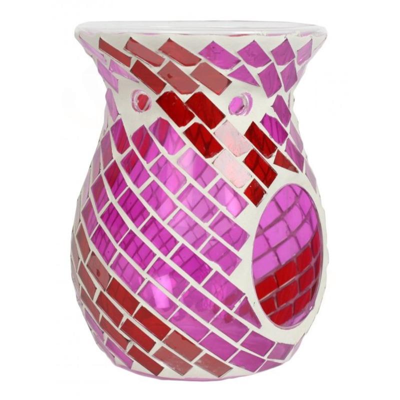 Village Candle Aromalampa Red & Purple