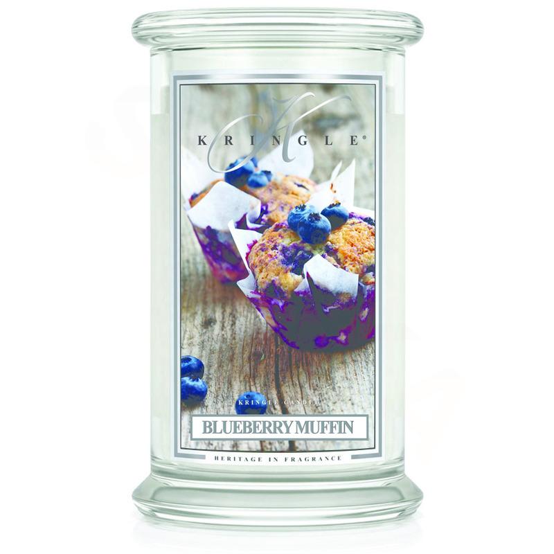 Kringle Candle  Velká vonná svíčka ve skle Blueberry muffin 624g