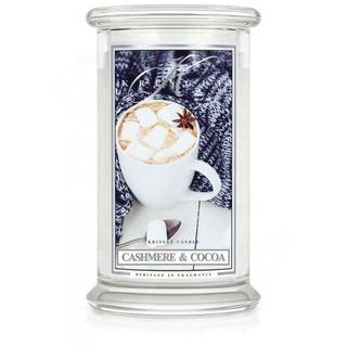 Kringle Candle  Velká vonná svíčka ve skle Cashmere and Cocoa 624g