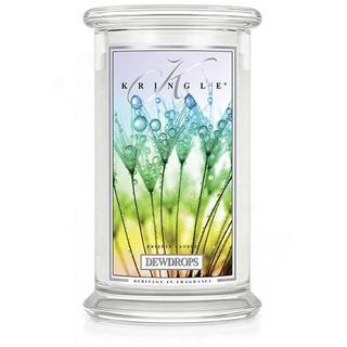 Kringle Candle  Velká vonná svíčka ve skle Dewdrops 624g