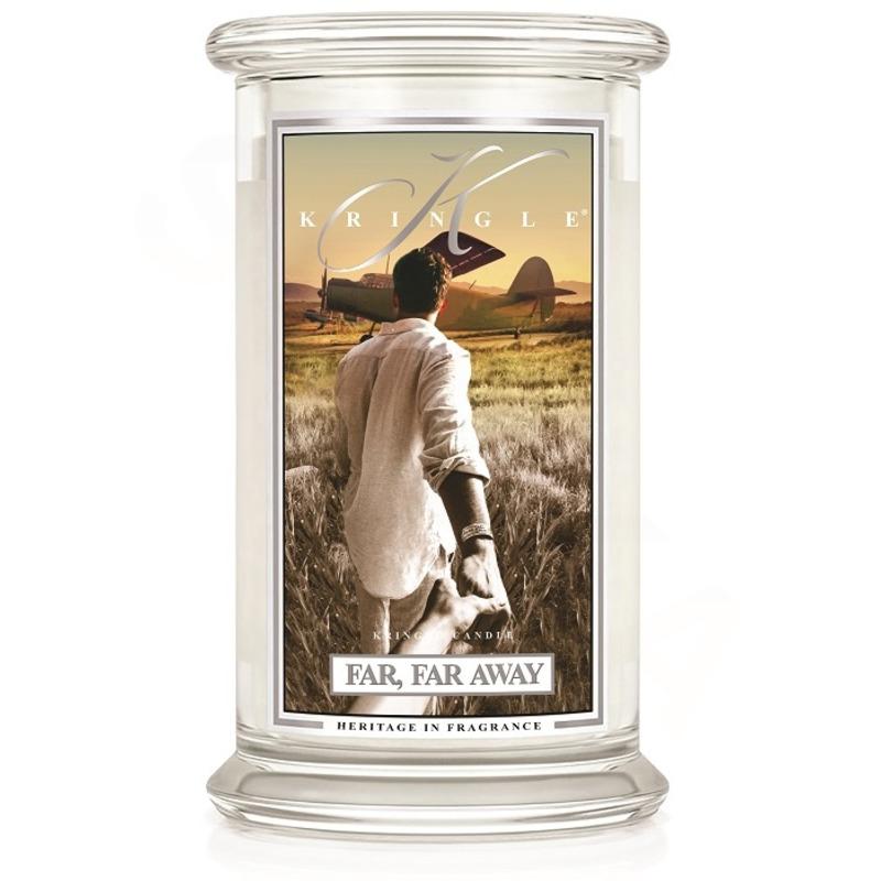 Kringle Candle  Velká vonná svíčka ve skle Far, far away 624g