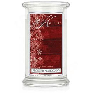 Kringle Candle  Velká vonná svíčka ve skle Frosted mahogany 624g