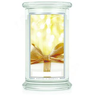 Velká vonná svíčka ve skle Gold cashmere 624g