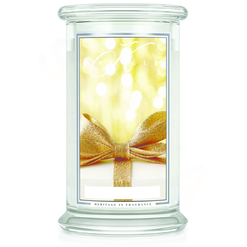Kringle Candle  Velká vonná svíčka ve skle Gold cashmere 624g