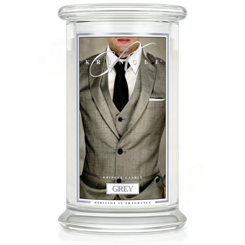 Kringle Candle  Velká vonná svíčka ve skle Grey 624g